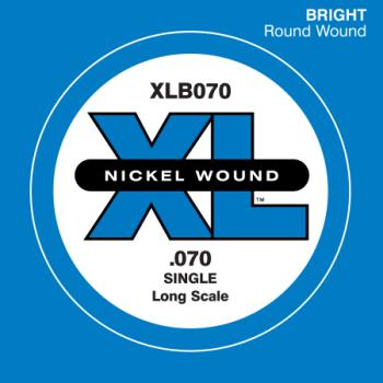 Daddario XLB070 .070 Electric Bass Long Scale Single String