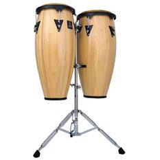 Latin Percussion LPA646-DW Aspire Series Conga Set - Dark Wood