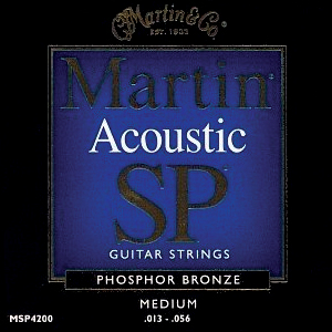 MA550 Martin SP Acoustic Strings; Medium 13-56