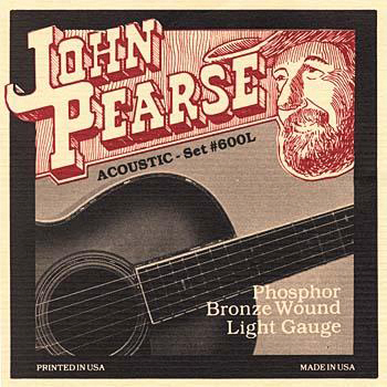 John Pearse P600L_33098 Phosphor Bronze Acoustic Set; Light 12-53