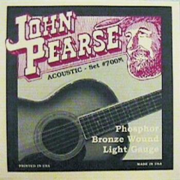 John Pearse P700M_33096 Phosphor Bronze Acoustic Set; Medium 13-56