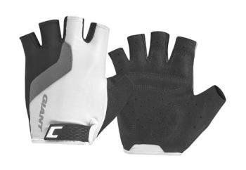 Giant G10093 GNT Tour Short Finger Gloves LG White/Black