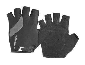 Giant G10098 GNT Tour Short Finger Gloves LG Black/Black