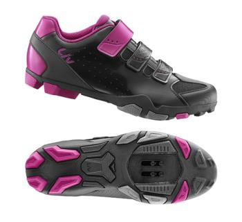 G20139 LIV Fera Off-Road Shoe Nylon Sole 38 Black/Fuchsia