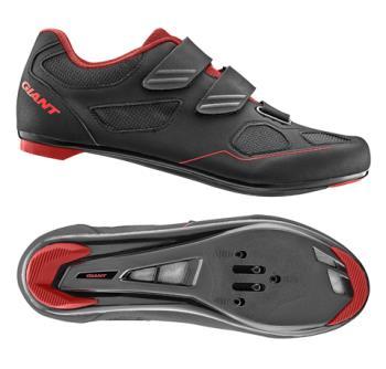 Giant G20353 GNT Bolt Road Shoe Nylon SPD/SPD SL Sole 45 Black/Red