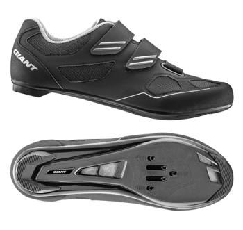 Giant G20364 GNT Bolt Road Shoe Nylon SPD/SPD SL Sole 47 Black/Silver