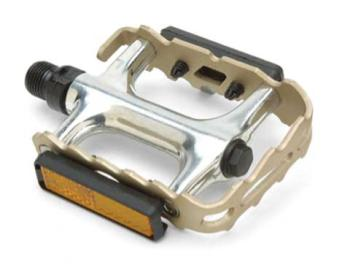 "Giant 67110 GNT Pro Alloy Pedals 9/16"" Axle Champagne/Silver"