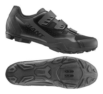Giant G870001055 GNT Flux V2 Off-Road Shoe Nylon Sole 44 Black