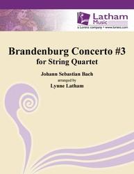 Brandenburg Concerto #3 for String Quartet