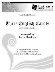Three English Carols for String Quartet - Score