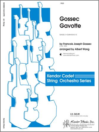 Kendor Gossec               Wang A  Gossec Gavotte - String Orchestra