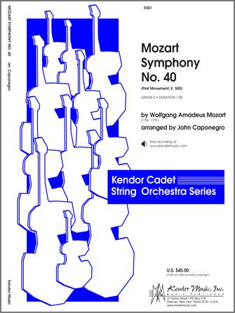 Kendor Mozart               Caponegro J  Mozart Symphony #40 Movement 1 - String Orchestra