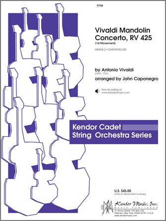 Kendor Vivaldi              Caponegro  J  Vivaldi Mandolin Concerto RV 425 - String Orchestra