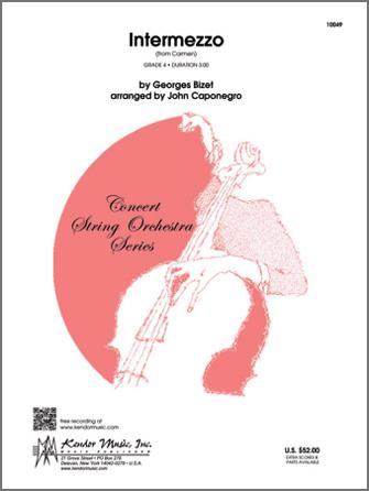 Kendor Bizet G              Caponegro J  Intermezzo (from Carmen) - String Orchestra