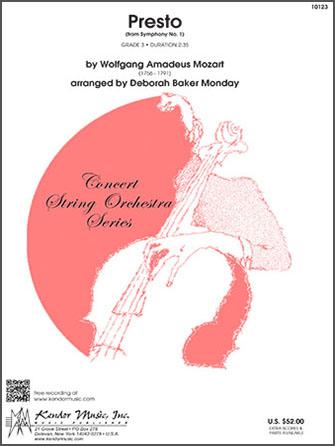 Kendor Mozart               Monday D B  Presto (from Sym #1) - String Orchestra