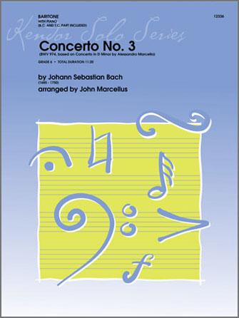 Concerto No. 3 - Baritone Solo (TC or BC)  with Piano Accompaniment