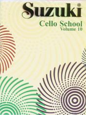 Suzuki Cello School Cello Part, Volume 10 (includes Piano Acc.) [Cello]