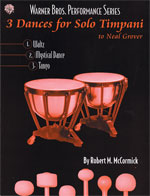 3 Dances for Solo Timpani [Timpani]