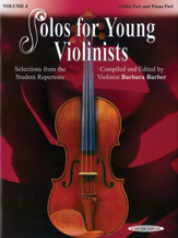 Solos for Young Violinists Violin Part and Piano Acc., Volume 4 [Violin]