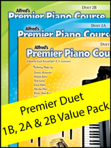 Alfred Premier Duet 1B-2B Value Pack Piano