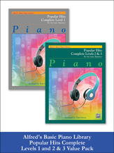 Alfred Basic Popular Hits Complete 1 & 2/3 Value Pack [piano]
