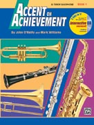 Accent on Achievement Book 1 for B-flat Tenor Saxophone