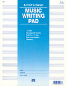 """12 Stave Music Writing Pad (8 1/2"""" x 11"""") Loose Pages (3-hole punched for ring binders)"""