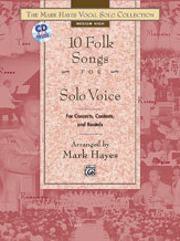 10 Folk Songs For Solo Voice - Med High w/CD