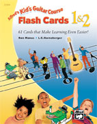 Kid's Guitar Course Flash Cards 1 & 2 [Guitar]