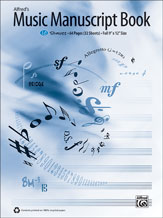 Alfred's Music Manuscript Book, 10-Stave Book