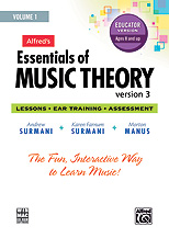 Alfred's Essentials of Music Theory Ver. 3 Vol.1 - Educator CD-ROM
