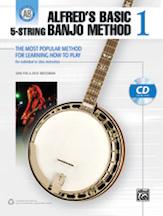 Alfred's Basic 5 String Banjo Method Bk 1 Book/CD