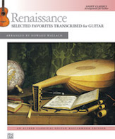 Alfred  Howard Wallach  Renaissance: Selected Favorites Transcribed for Guitar