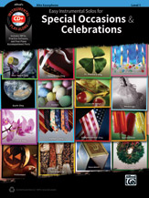 Easy Instrumental Solos for Special Occasions & Celebrations - Alto Sax/CD