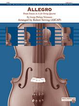 Alfred Telemann G           Sieving R  Allegro (fr Sonata in A for String Quartet) - String Orchestra