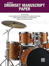 Alfred's Drumset Manuscript Paper [Drum Set]