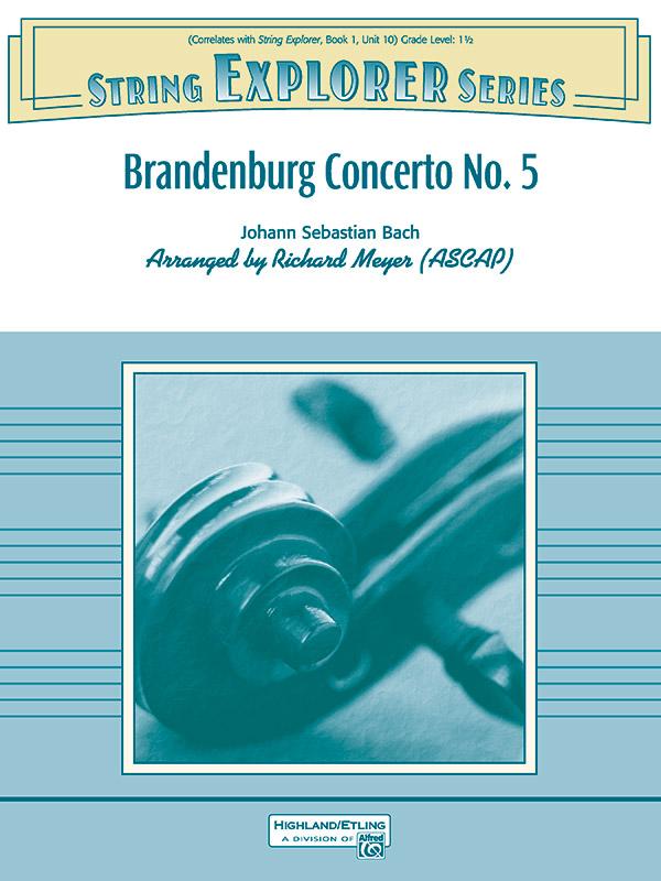 Alfred Bach                 Meyer R  Brandenburg Concerto No 5 - String Orchestra