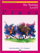 Alfred's Basic Piano Course: Ear Training Book 4 [Piano]