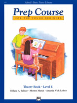 Alfred's Basic Piano Prep Course: Theory Book E [Piano]
