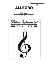 Allegro - Alto Sax and Piano