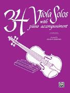 34 Viola Solos [Viola & Piano Acc.]