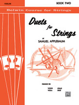 Duets for Strings, Book II [Violin]