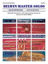 Belwin Master Solos Alto Sax: Advanced, Vol. 1 - Piano Accompaniment