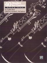 40 Studies For Clarinet - Bk 1