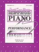 David Carr Glover Method for Piano, Performance Book Level 3; AL00FDL01017