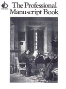 "12 Stave Professional Manuscript Book (Size: 9"" x 12"") Saddle Stitched Book"