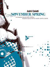 November Spring - Sax Quartet AATB/SATB (or Quintet)