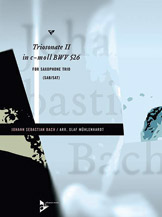 Triosonata No. 2 in C Minor, BWV 526 - Sax Trio SAB/SAT