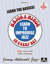Jamey Aebersold Jazz Volume 24: Learn to Improvise Jazz Major & Minor in Every Key