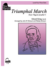 Triumphal March (from Sigurd Jorsalfar) - Piano